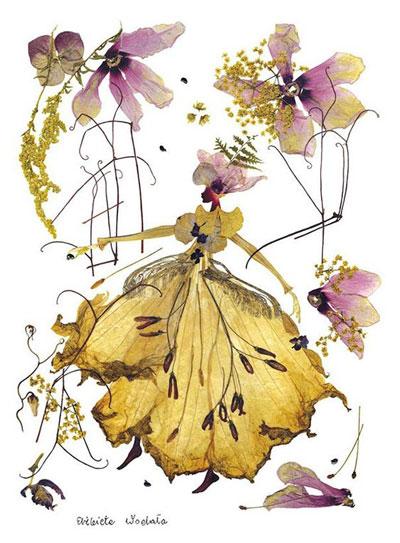 Картины из листьев и цветов на тему осень 2