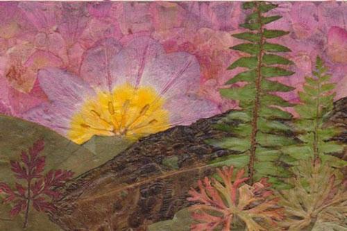 Картины из листьев и цветов на тему осень