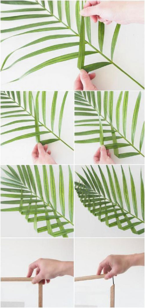 картины из листьев и цветов