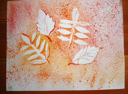 картины из листьев и цветов своими руками 2