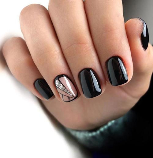 осенний маникюр на короткие миндалевидные ногти 4