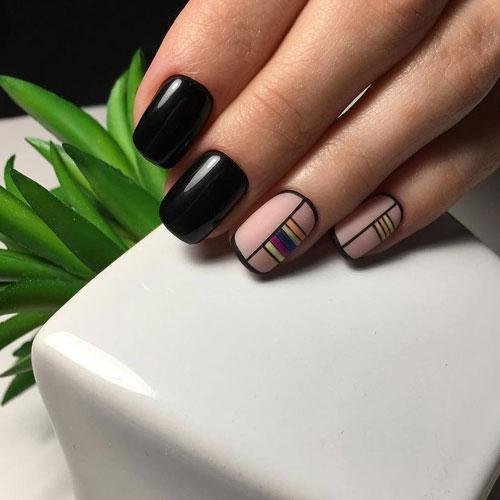 нежный осенний маникюр на короткие ногти фото 9