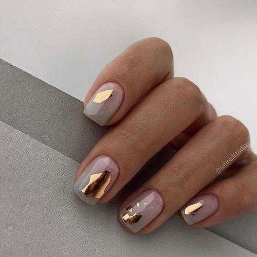 маникюр на короткие ногти осенняя тематика 4