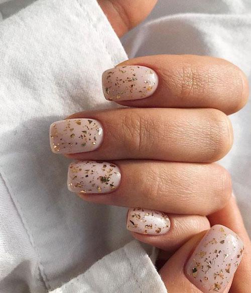маникюр на короткие ногти осенняя тематика