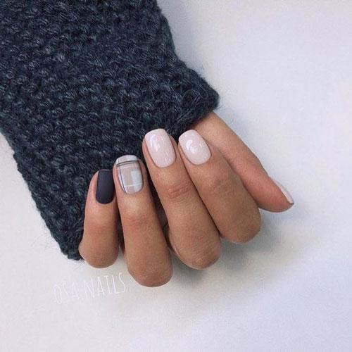светлый осенний маникюр на короткие ногти 10