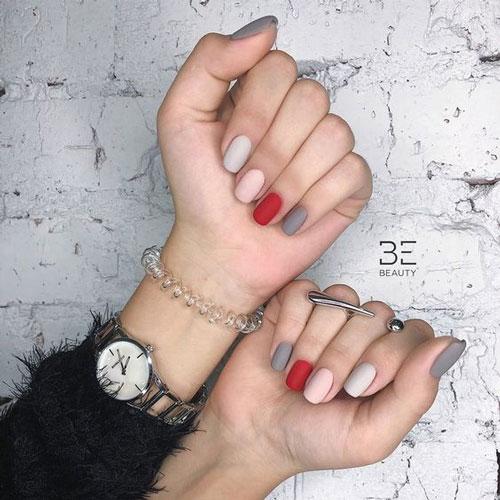 осенний маникюр на очень короткие ногти 4
