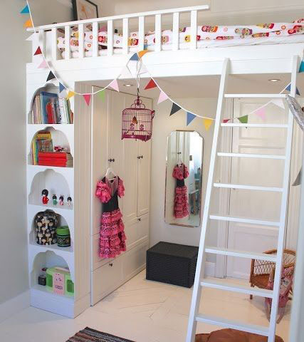 маленькая узкая детская комната дизайн
