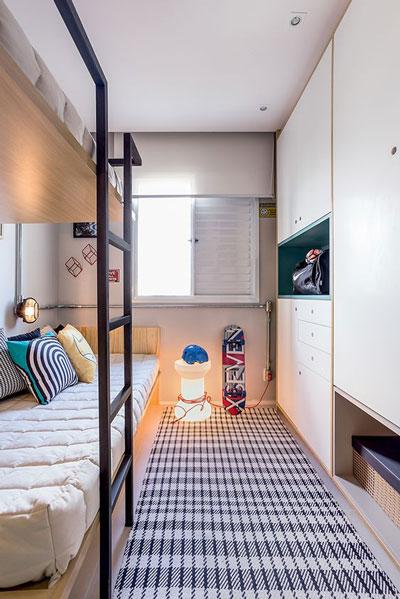 маленькая детская комната для мальчика подростка