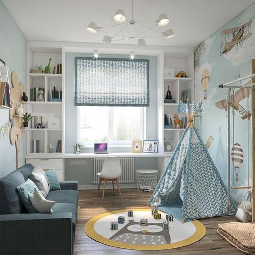 организация маленькой детской комнаты 2
