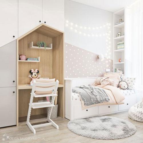 планировка маленькой детской комнаты девочке 12 лет