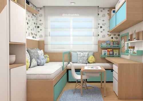 планировка маленькой детской комнаты для двоих 2
