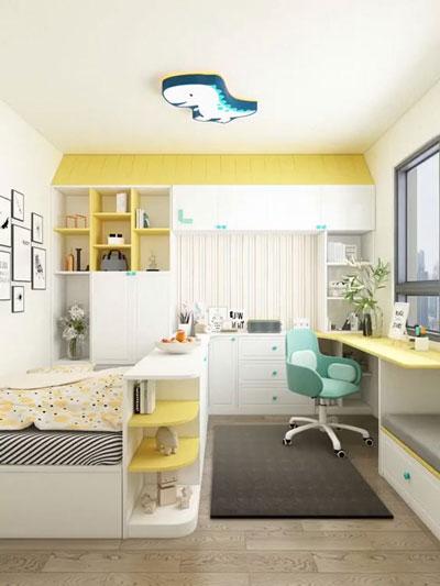 планировка маленькой детской комнаты для двоих