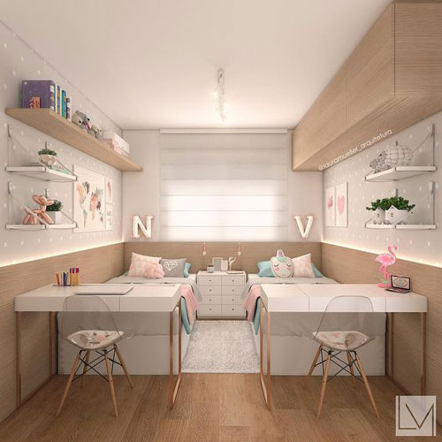 обустройство маленькой детской комнаты для двоих