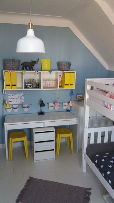 детская мебель в маленькую комнату идеи оформления 3