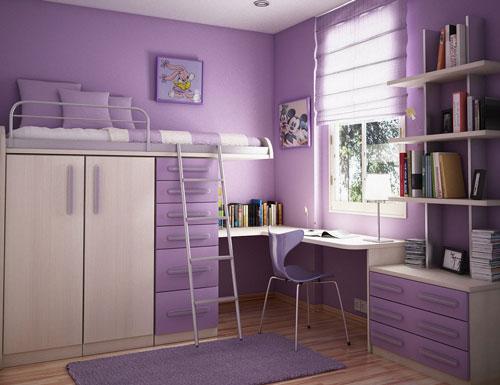 маленькая детская комната для школьника 2