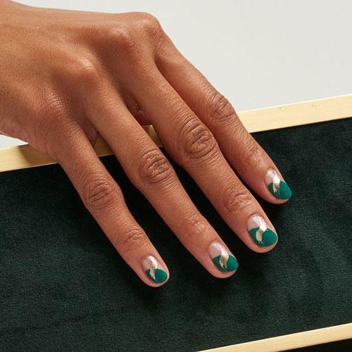 Модные тенденции дизайна ногтей осенью 8