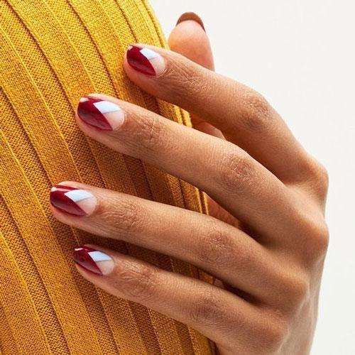 Модные тенденции дизайна ногтей осенью 7