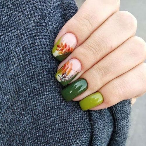Модные тенденции дизайна ногтей осенью 6