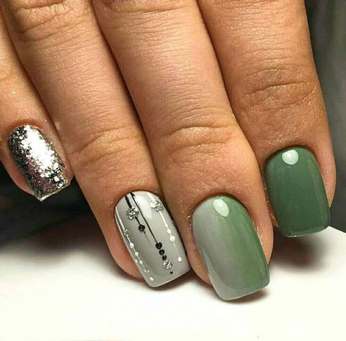 Модные тенденции дизайна ногтей осенью 5