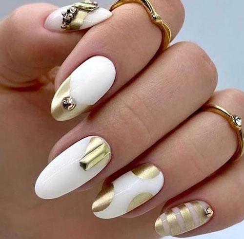 Модные тенденции дизайна ногтей осенью 3