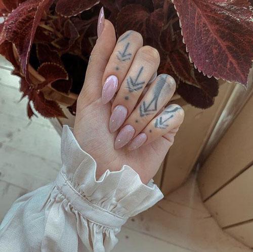 осенний дизайн ногтей миндальной формы 9