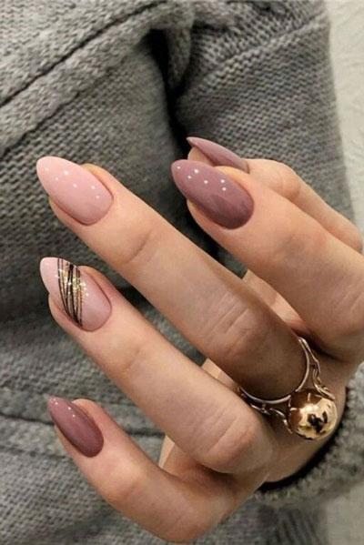 осенний дизайн ногтей миндальной формы 7