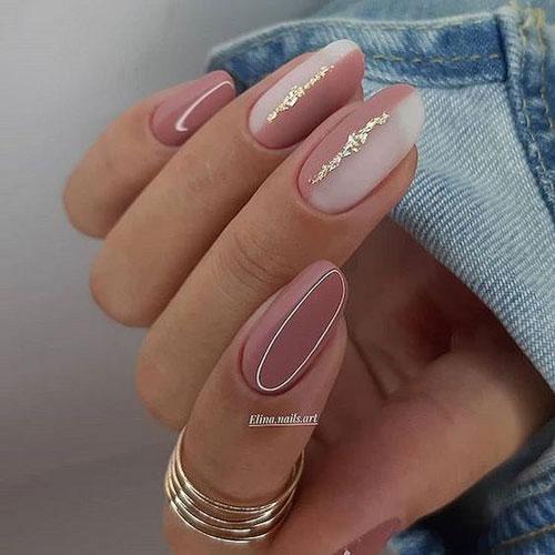 осенний дизайн ногтей миндальной формы 6