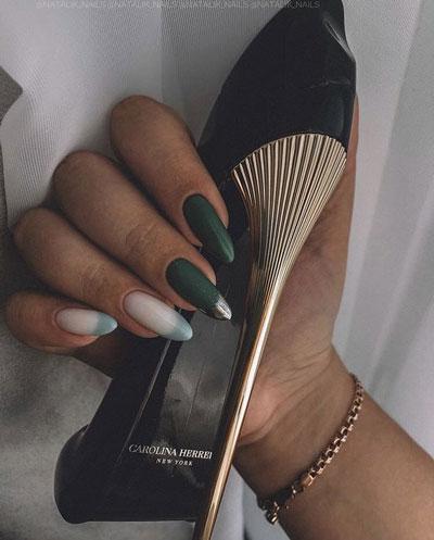 осенний дизайн ногтей миндальной формы 2