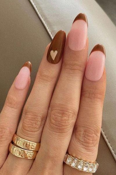 дизайн ногтей миндальной формы осень 10