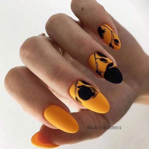 дизайн ногтей миндальной формы осень 8