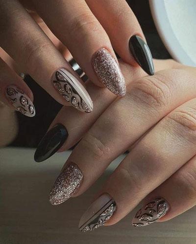 дизайн ногтей миндальной формы осень 6