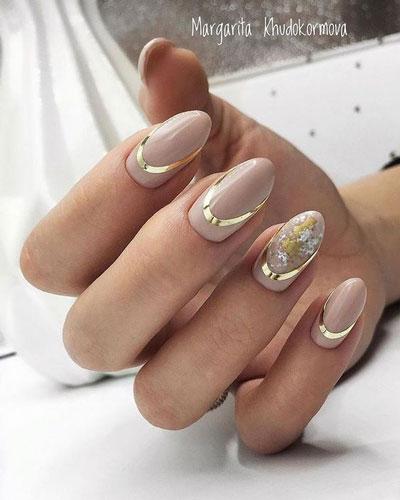 дизайн ногтей миндальной формы осень 5