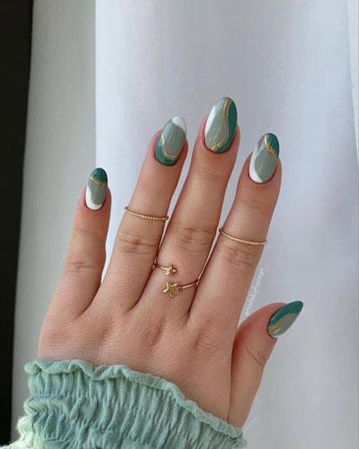 дизайн ногтей миндальной формы осень 4