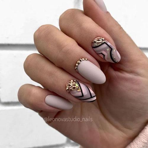 дизайн ногтей миндальной формы осень 3