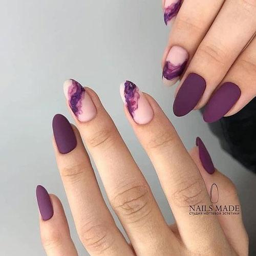 дизайн ногтей миндальной формы осень 2