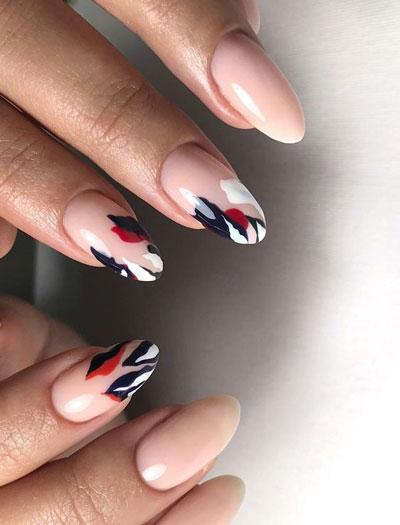 дизайн ногтей миндаль 2021 осень фото новинки на короткие ногти 8