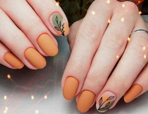 дизайн ногтей миндаль 2021 осень фото новинки на короткие ногти 7