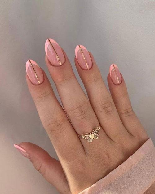 дизайн ногтей миндаль 2021 осень фото новинки на короткие ногти 5