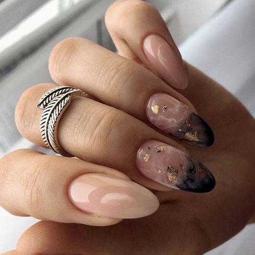 дизайн ногтей миндаль 2021 осень фото новинки на короткие ногти 3