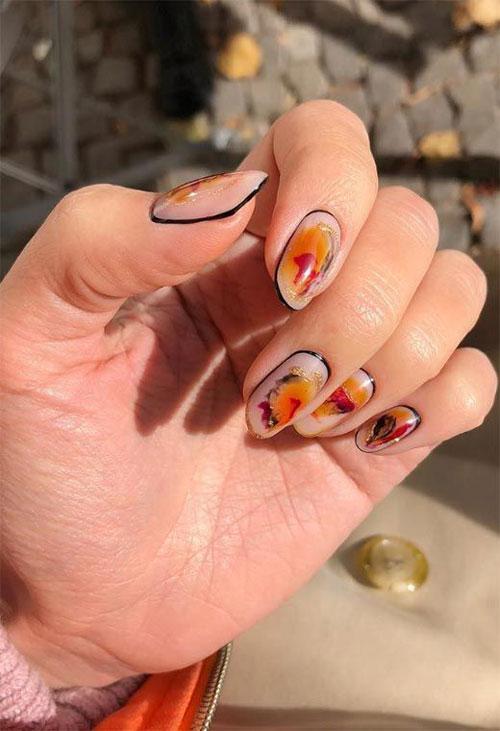дизайн ногтей миндаль 2021 осень фото новинки на короткие ногти 2