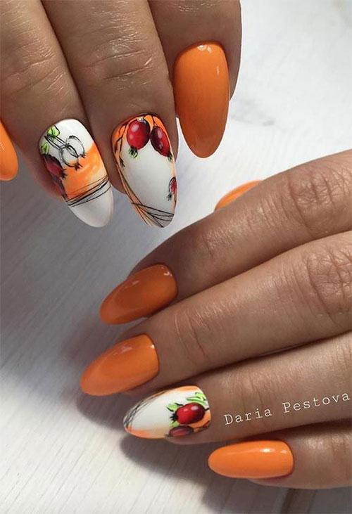 дизайн ногтей миндаль 2021 осень фото новинки на короткие ногти