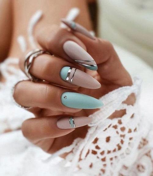 Дизайн ногтей миндаль 2021 осень фото 7