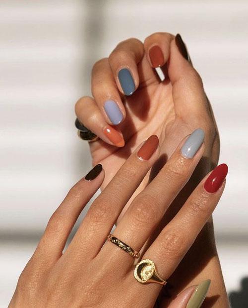 Дизайн ногтей миндаль 2021 осень фото 5