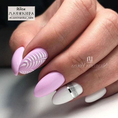 Дизайн ногтей миндаль 2021 осень фото 4
