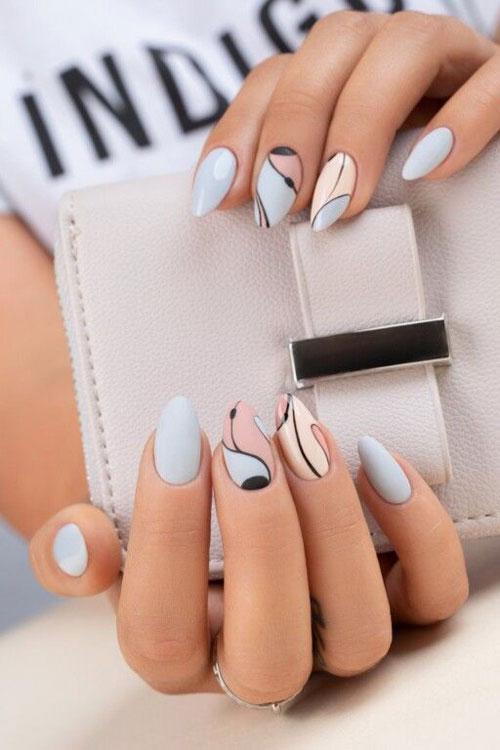 Дизайн ногтей миндаль 2021 осень фото 2
