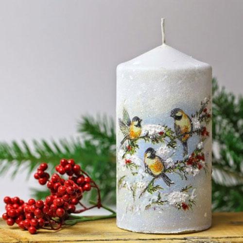 новогодние свечи декор своими руками фото 2