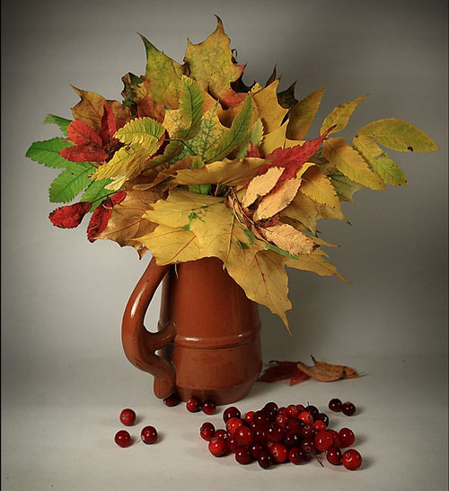 букет из осенних листьев 3 класс изо