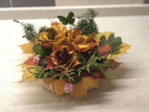 как сохранить осенние листья в букете