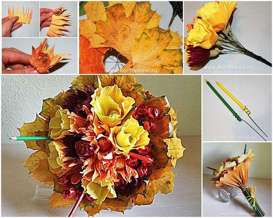 как сохранить осенние листья в букете 4