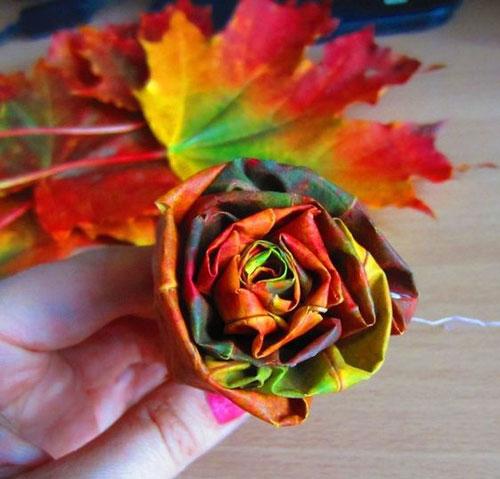 как сохранить осенние листья в букете 5